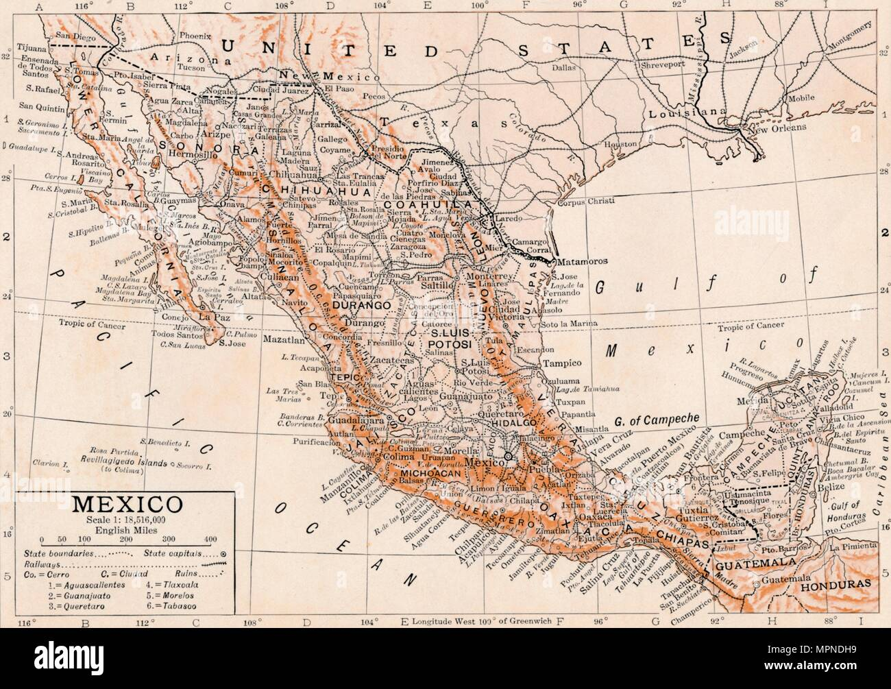 'Mexico'. Artist: Unknown. - Stock Image