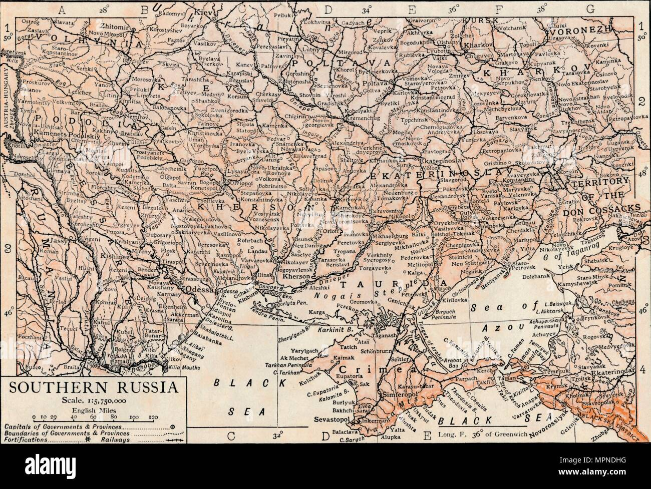 'Southern Russia'. Artist: Unknown. - Stock Image