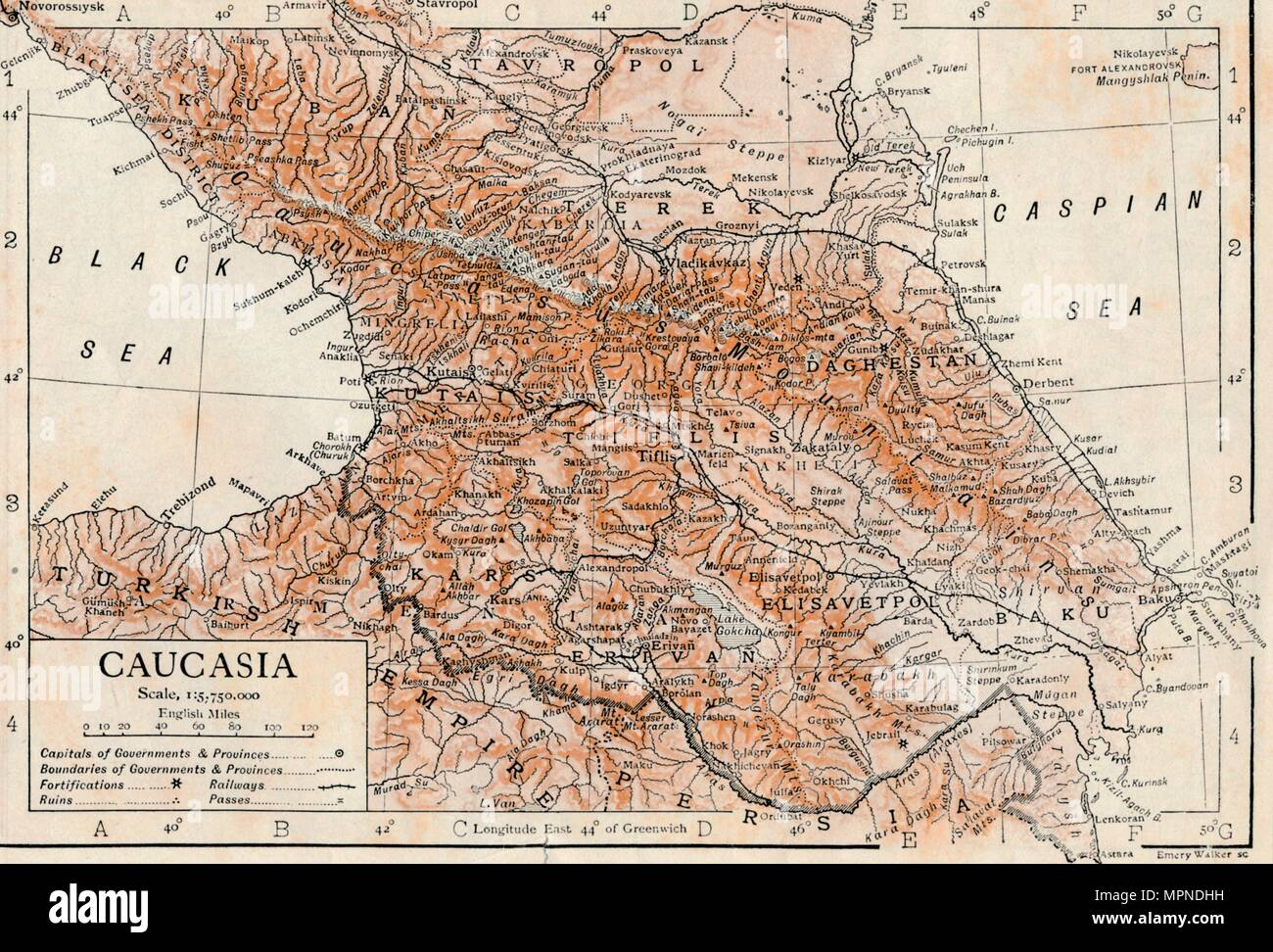 'Caucasia'. Artist: Unknown. - Stock Image