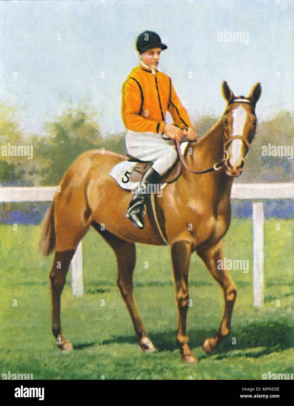 Free Fare, Jockey: B. Hobbs', 1939. Artist: Unknown. - Stock Image