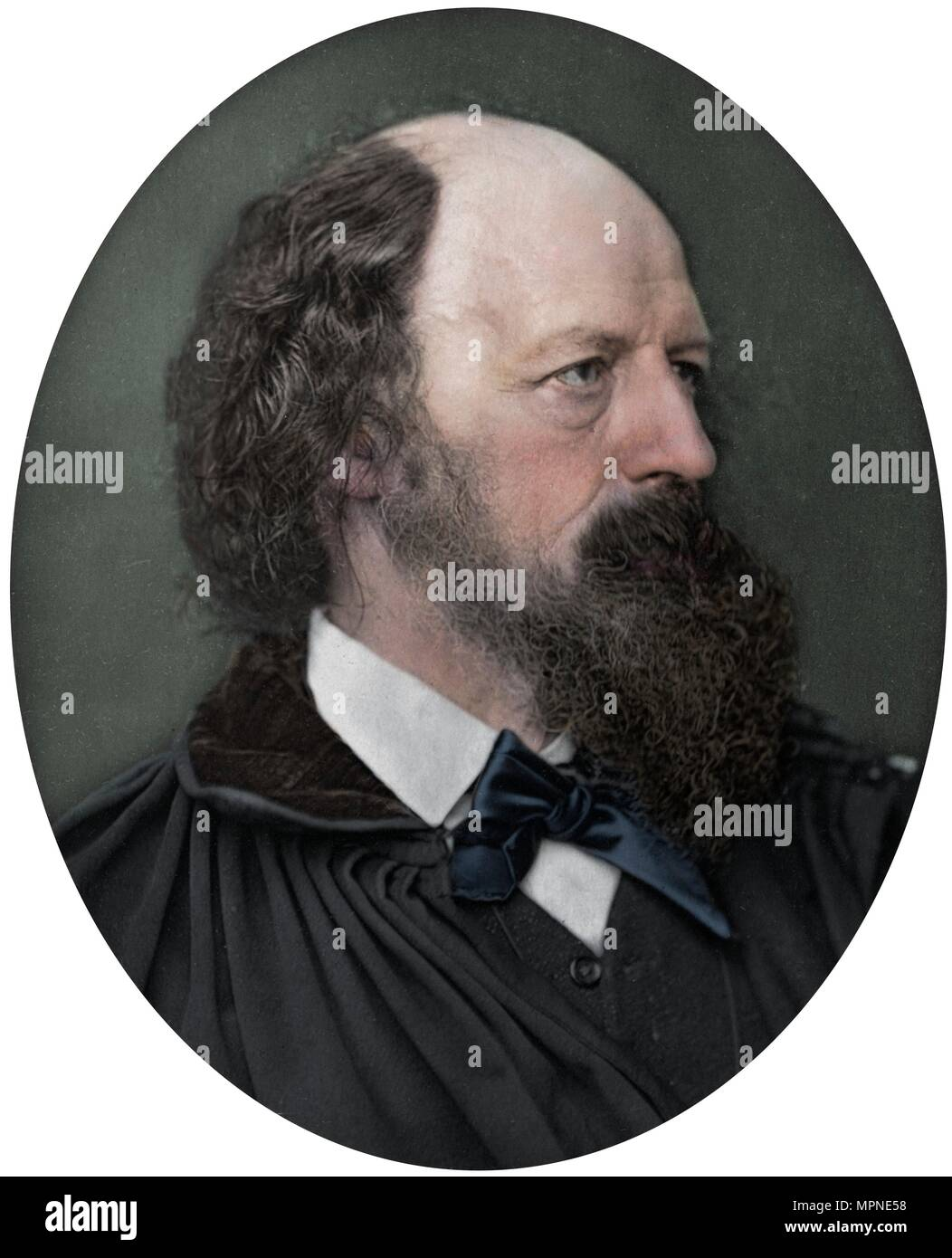 Alfred Tennyson, DCL, FRS, English Poet Laureate, 1883. Artist: Lock & Whitfield. - Stock Image