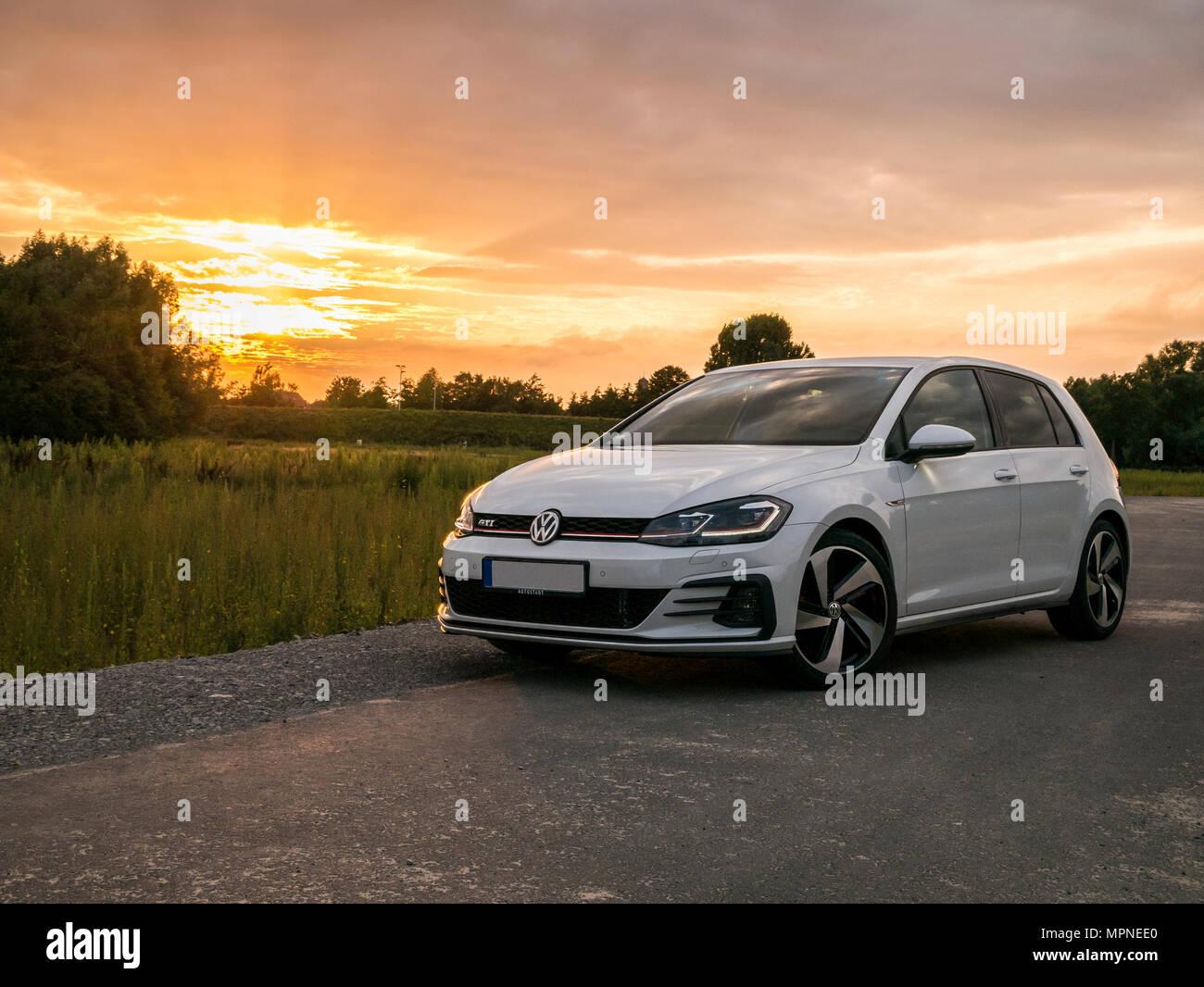 VW Golf GTI 7 Facelift - Stock Image