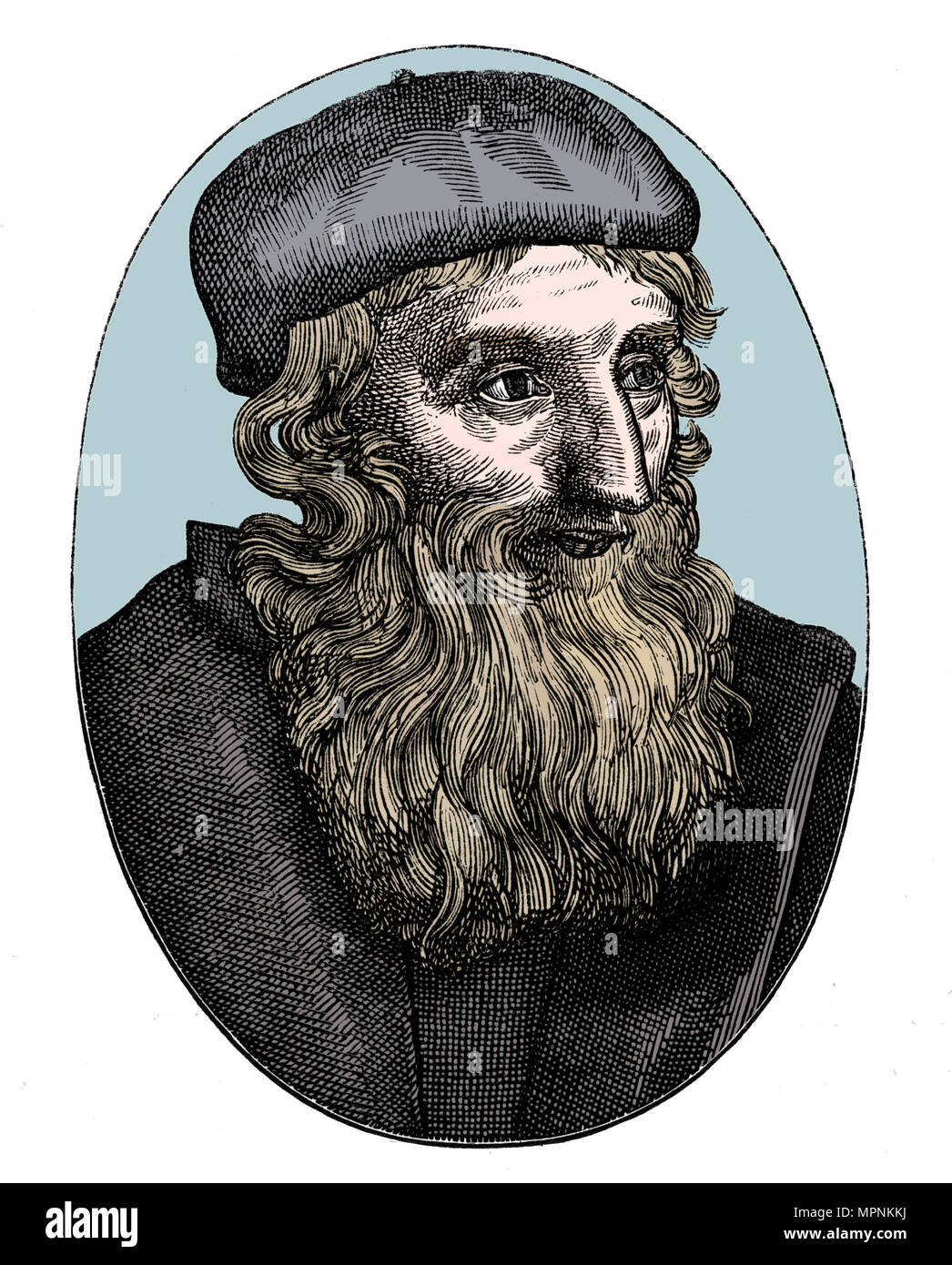 John Wycliffe, 14th century English religious reformer, 16th century. Artist: Unknown. - Stock Image