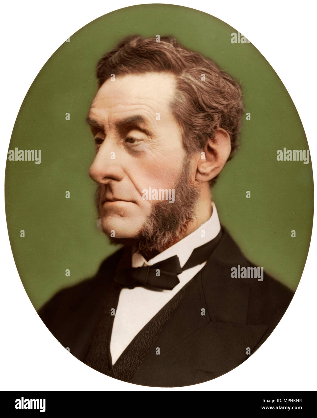 Anthony Ashley-Cooper, 7th Earl of Shaftesbury, British politician and philanthropist, 1876. Artist: Lock & Whitfield. - Stock Image