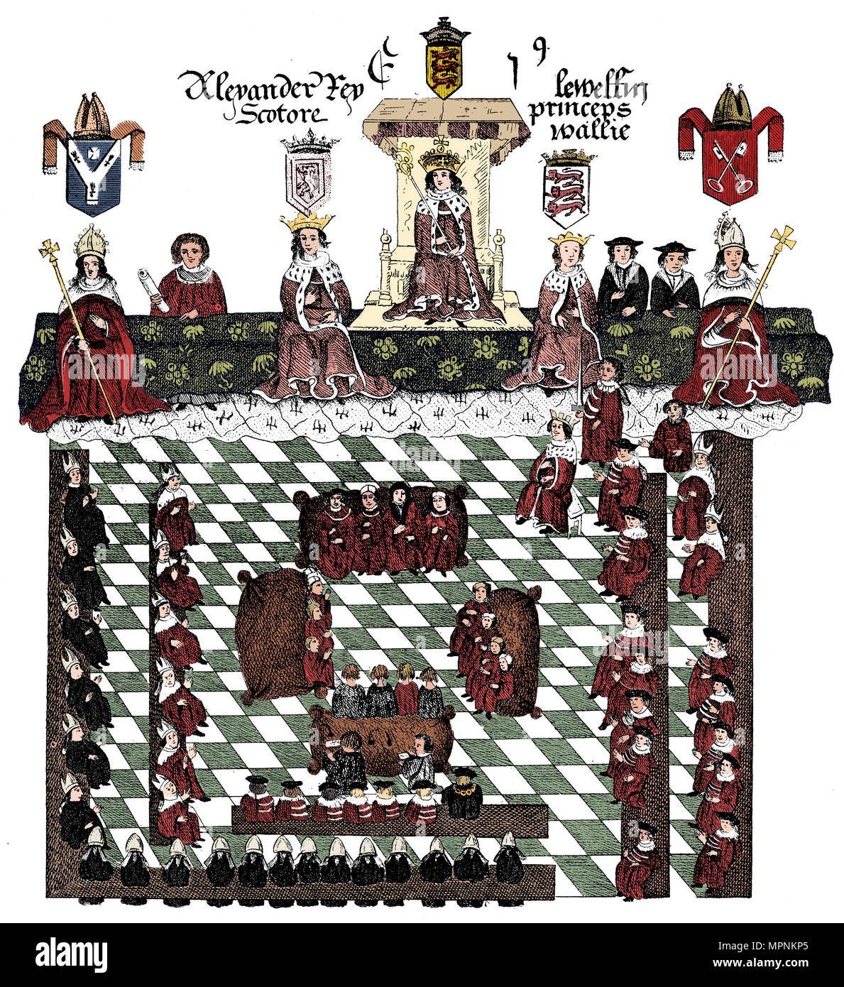 Parliament of Edward I, 13th century, (c1905). Artist: Unknown. - Stock Image