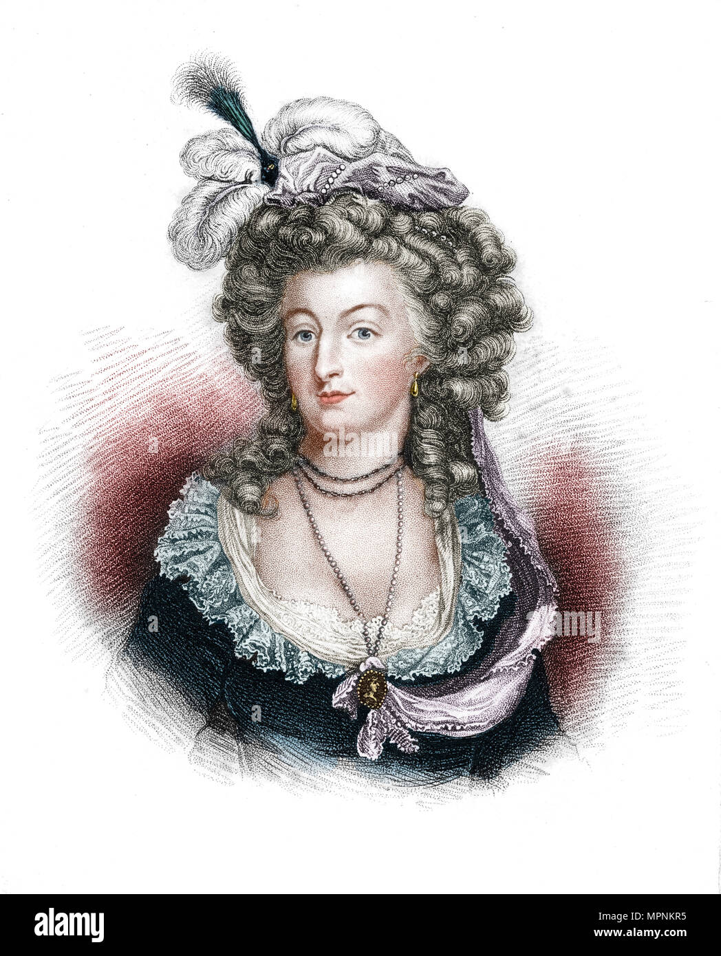Marie Antoinette, Queen Consort of Louis XVI of France, (1843). Artist: Unknown. - Stock Image