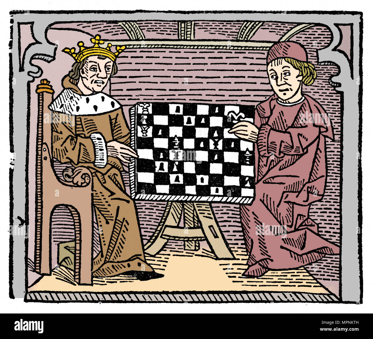 Game and play of chess, 1474 (1956). Artist: Unknown. - Stock Image
