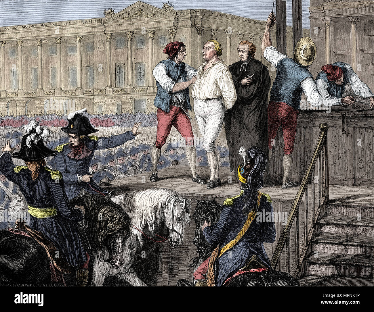 Execution of Louis XVI of France, Paris, 21st January 1793 (1882-1884).  Artist: Unknown. - Stock Image