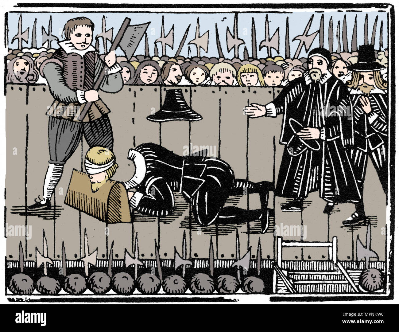 The Royal Martyrdom, from a ballad of 1648 (1964). Artist: Anon. - Stock Image