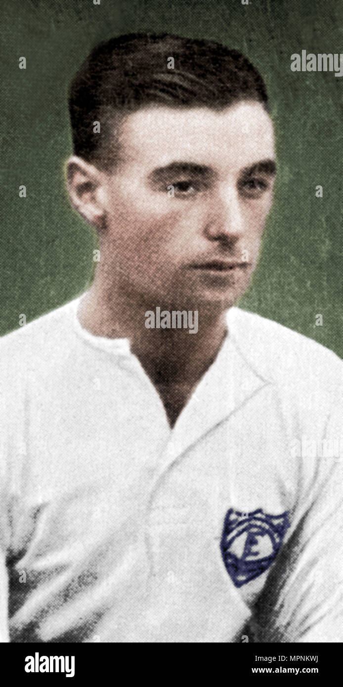 Stanley Matthews (1915-2000), Stoke City football player, 1935. Artist: Unknown. - Stock Image
