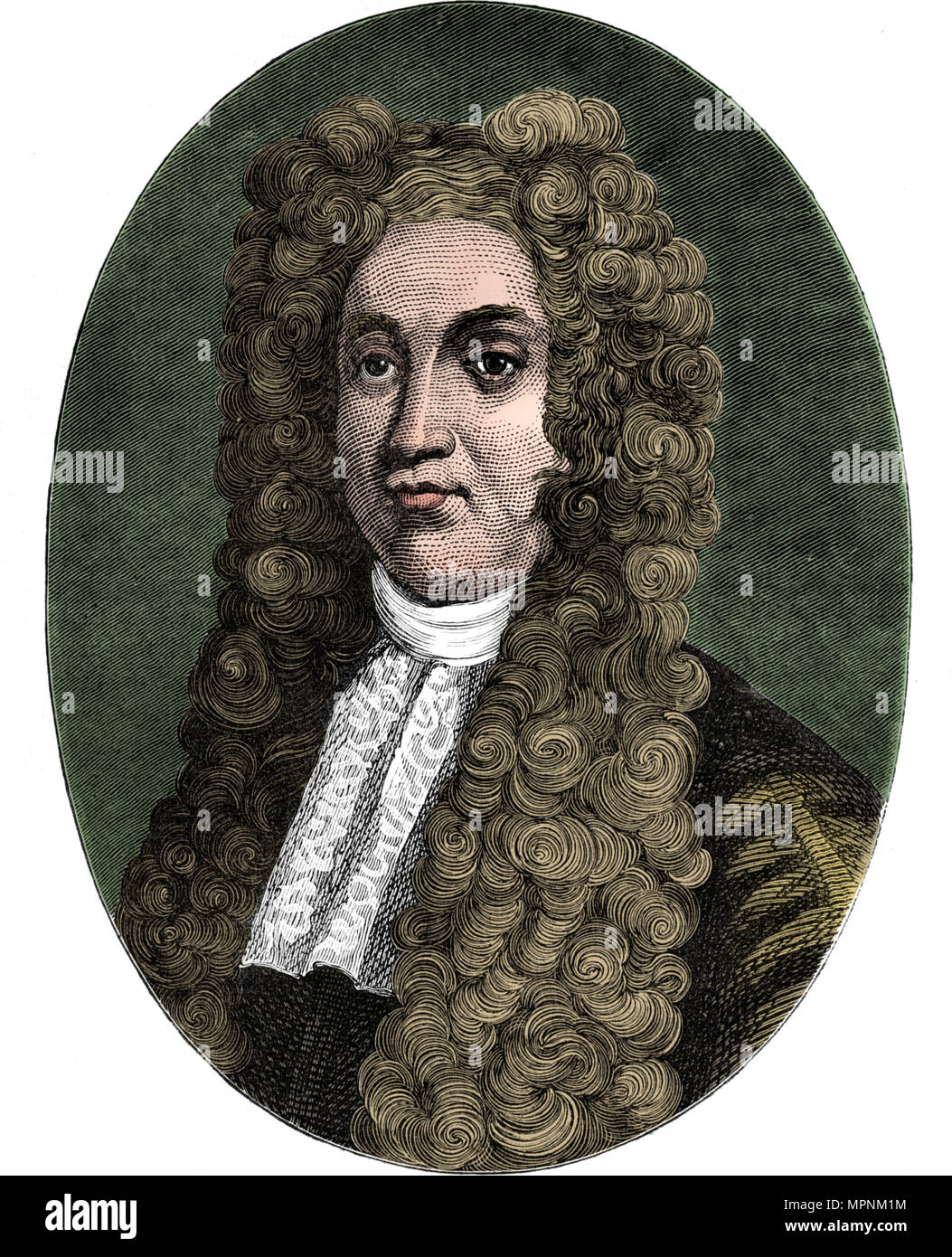 Sir Hans Sloane, English physician, naturalist and collector, c1793 (1878). Artist: Unknown. - Stock Image