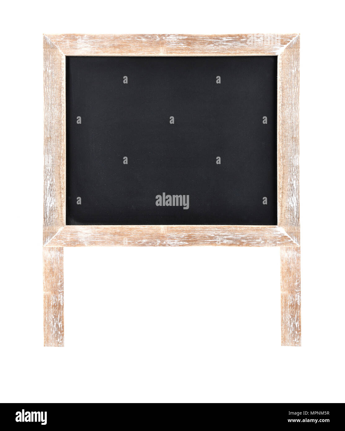 Chalkboard with frame and wooden stand Stock Photo: 186102947 - Alamy