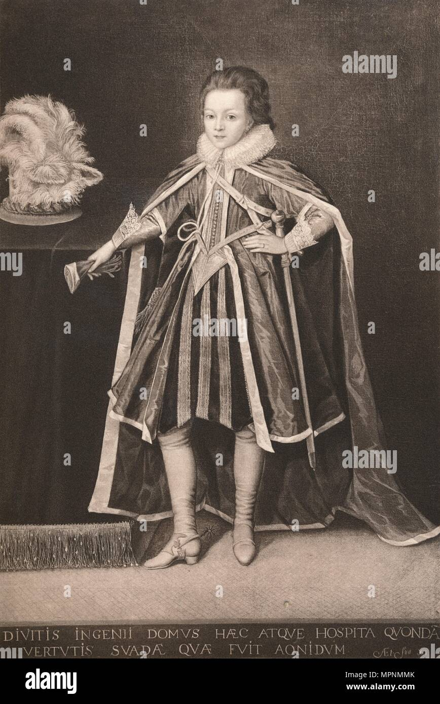 'Henry, Prince of Wales', c16th century, (1904). Artist: Unknown. - Stock Image