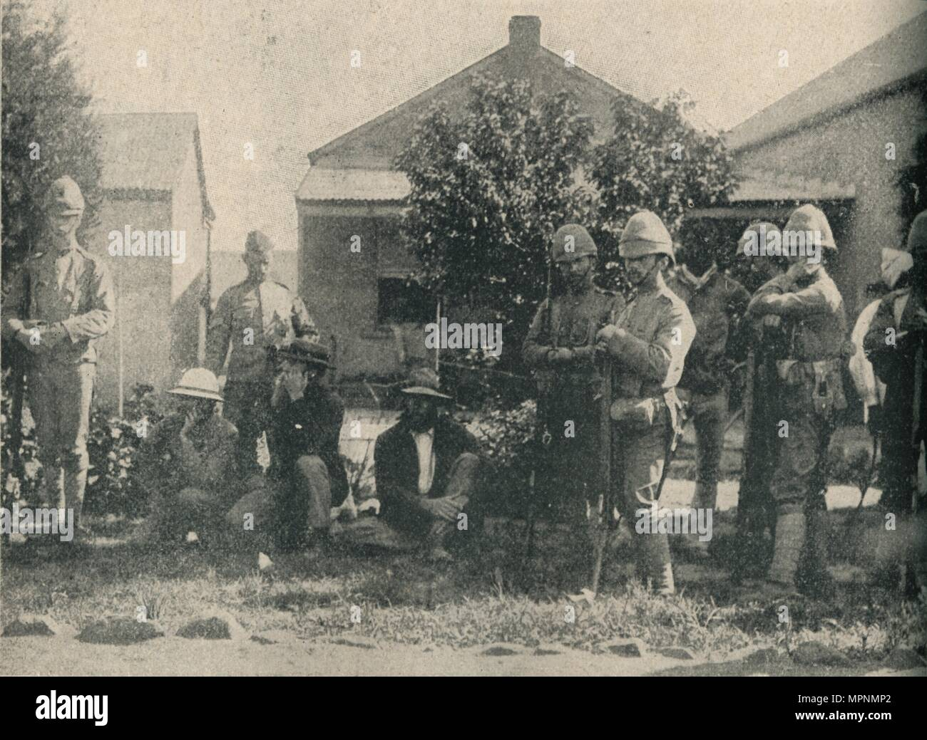 'Boer Prisoners', 1902. Artist: Horace Walter Nicholls. - Stock Image