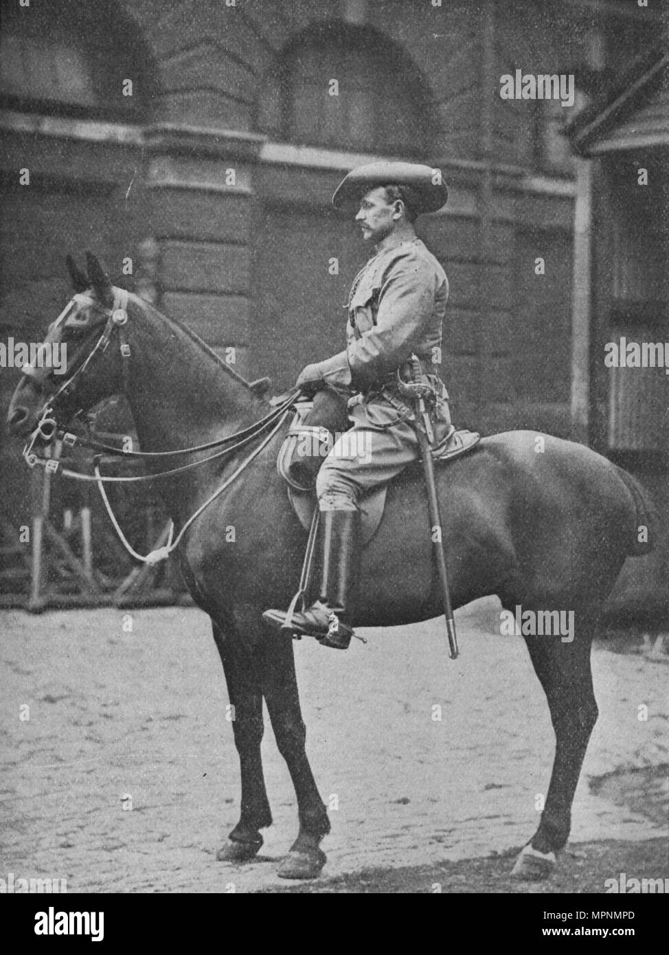 'A Trooper in the Rhodesian Horse', 1902. Artist: William Gregory & Co. - Stock Image