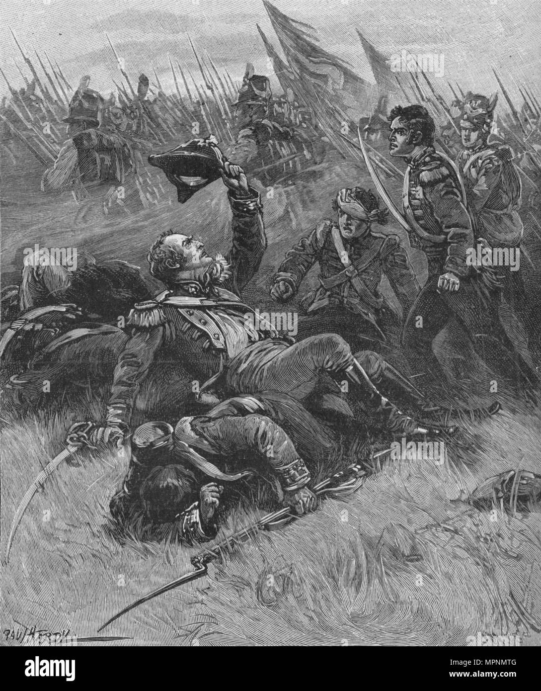 'Death of Colonel Donellan', c1896, (1902). Artist: Paul Hardy. - Stock Image