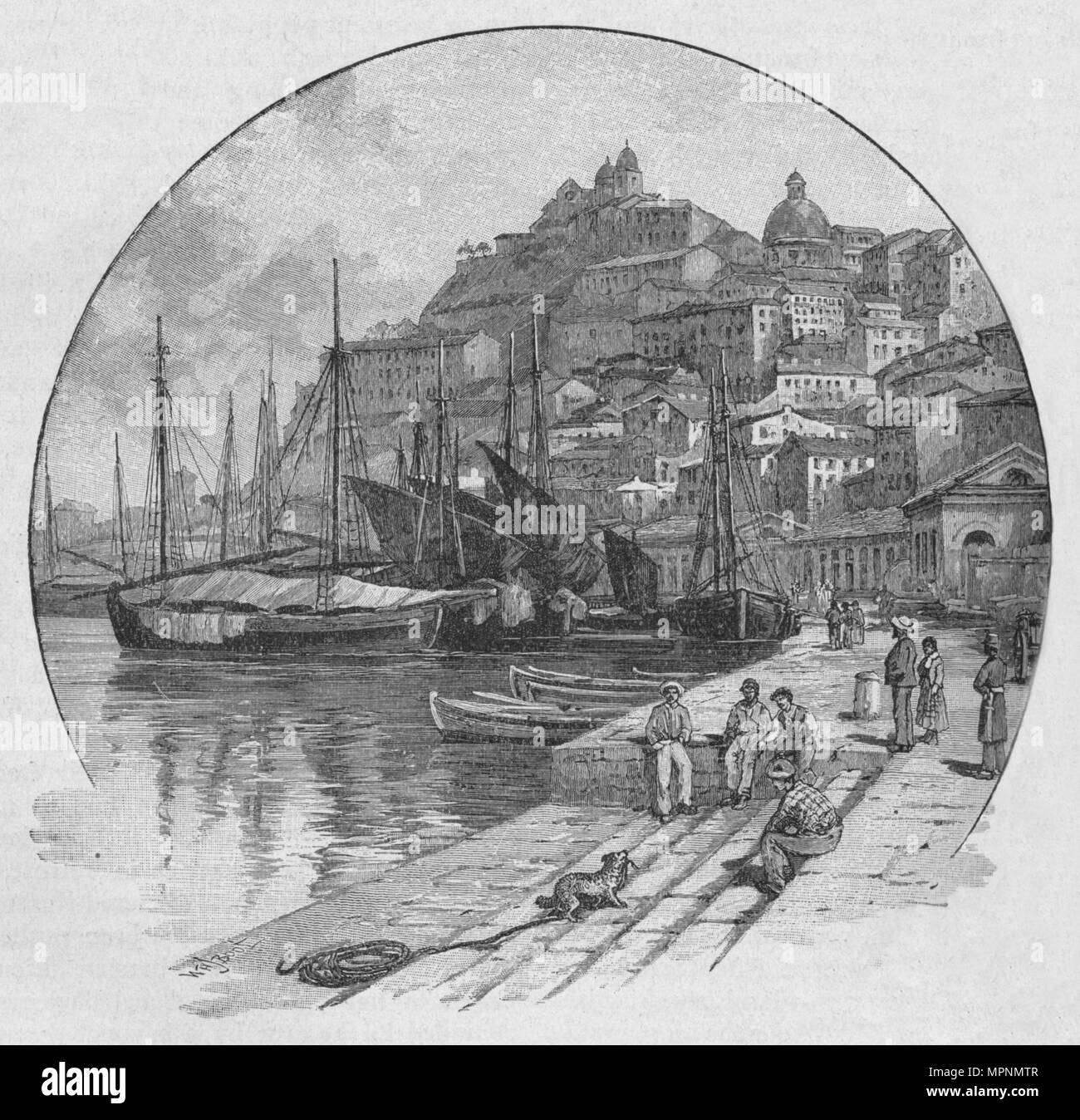 'Ancona', 1902. Artist: William Henry James Boot. - Stock Image