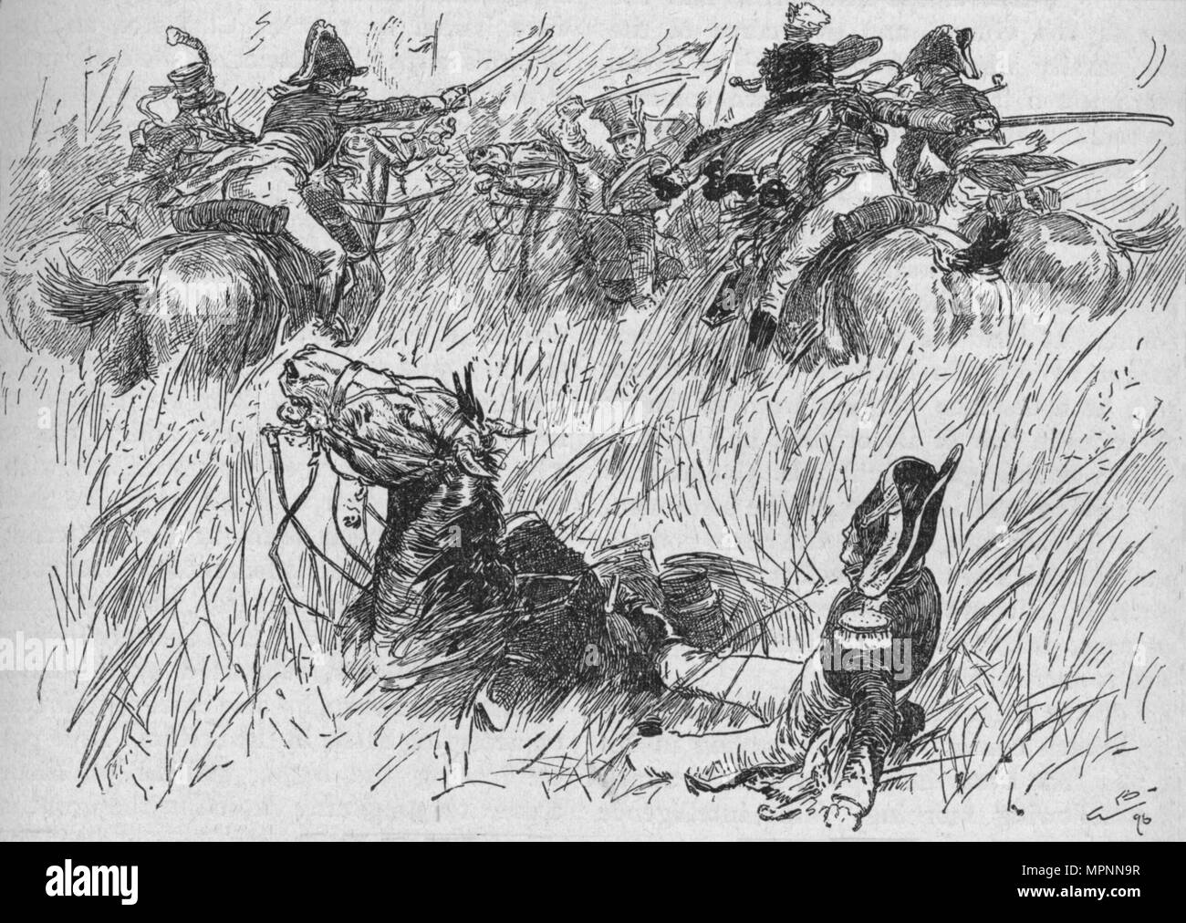 'The General's Horse Fell Into A Ditch', 1896, (1902). Artist: Gordon Frederick Browne. - Stock Image