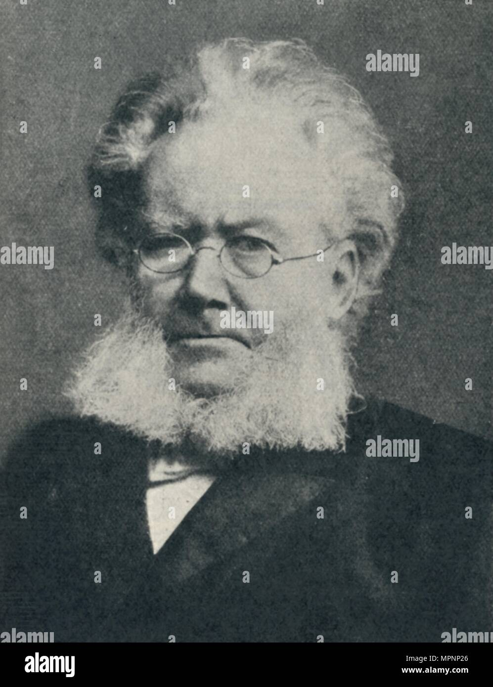 'Henrik Ibsen - In the Heyday of His Success', c1897, (c1925). Artist: Unknown. - Stock Image