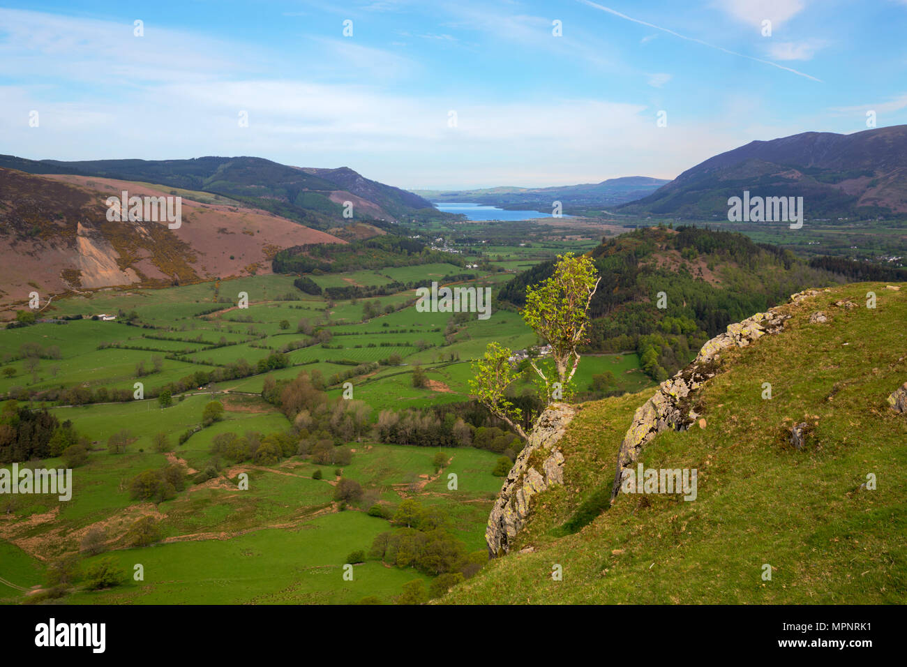 View over the Newlands Valley above Catbells in the Lake District - Stock Image
