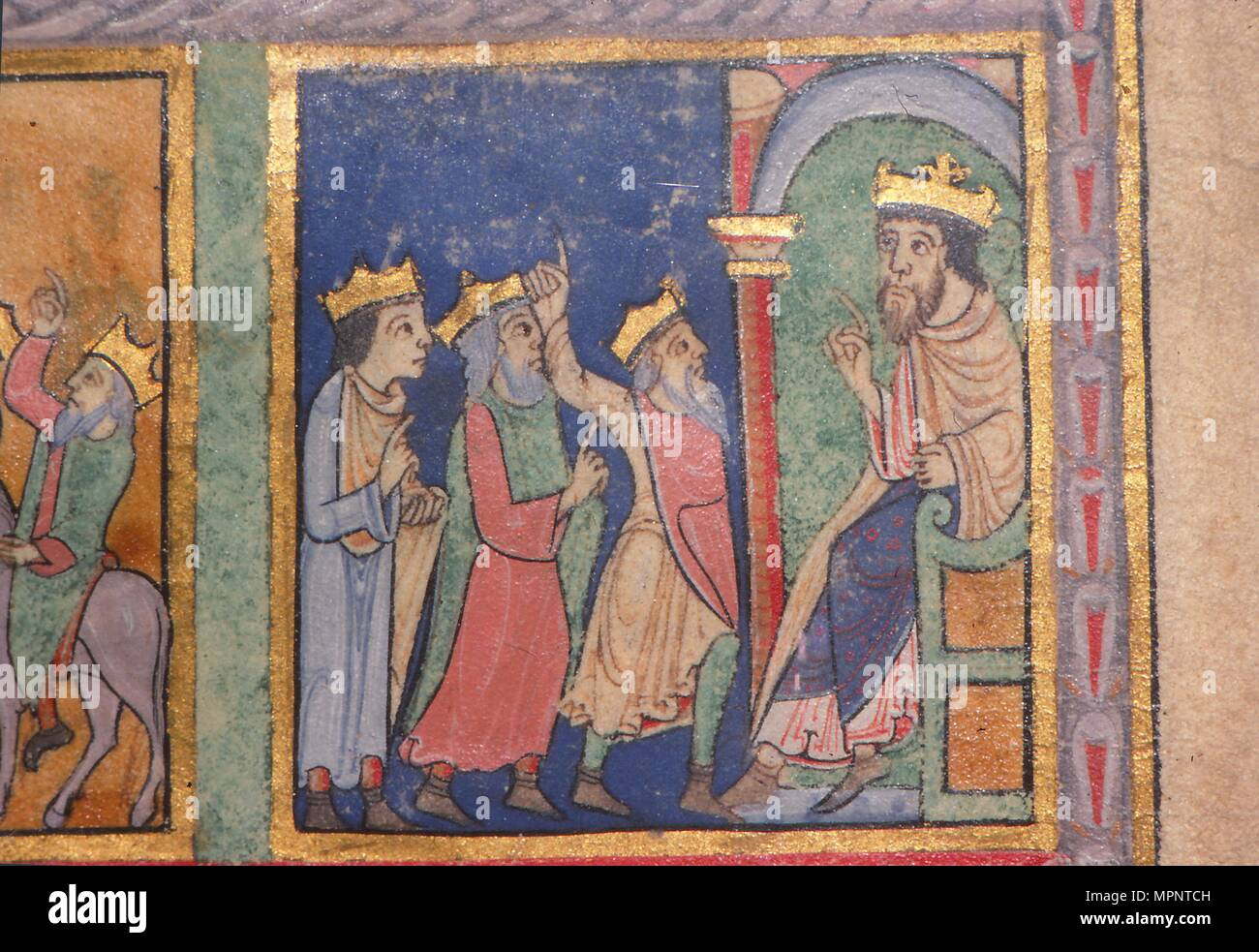 detail from a psalter the magi and herod c1140 artist unknown