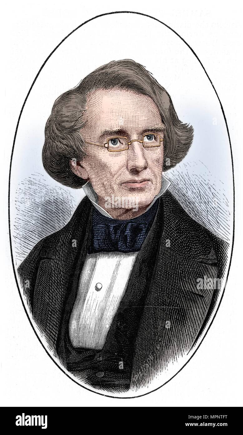 Samuel Finley Breese Morse, American artist and inventor, 1873. Artist: Unknown. - Stock Image