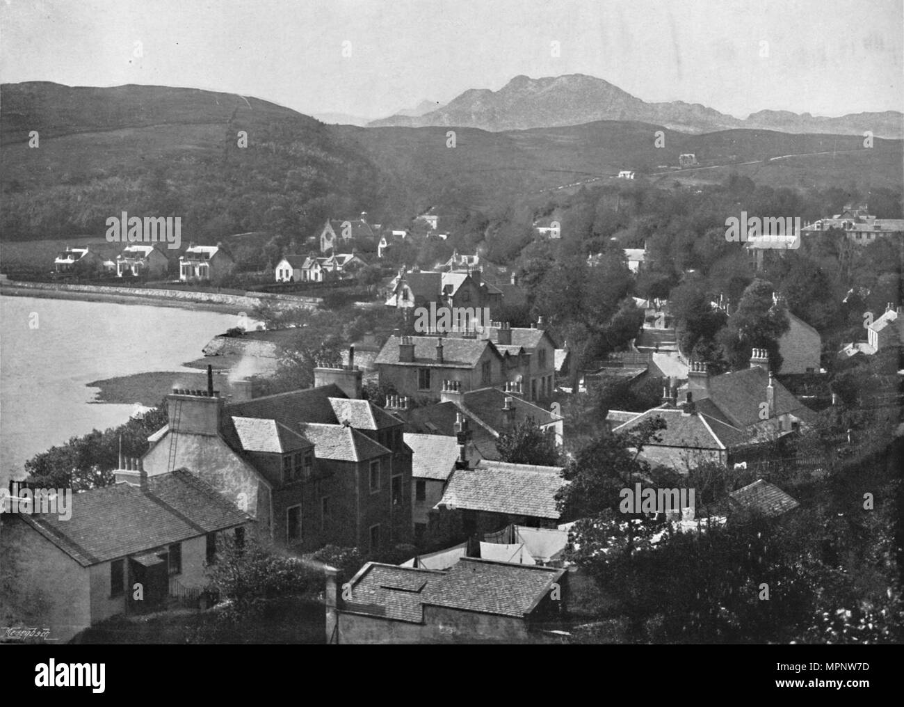 'Gareloch-Head - From the Hills', 1895. Artist: Unknown. - Stock Image