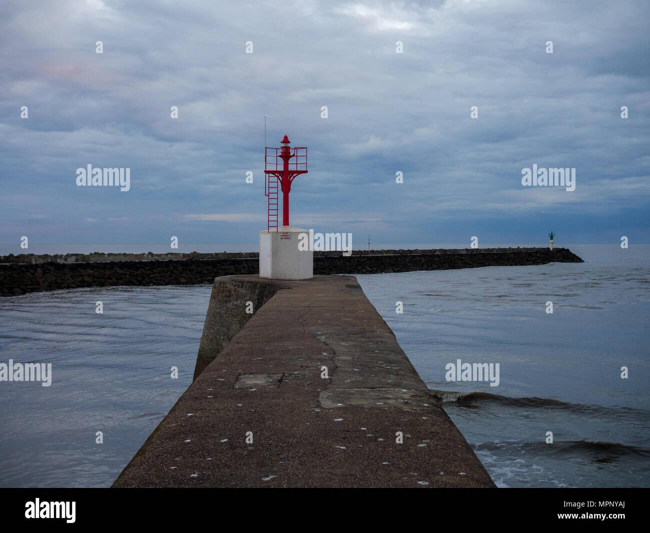 Seascape of Sainy-Gilles-Croix-de-Vie in France Stock Photo
