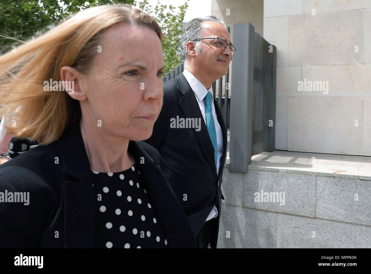 Valencia, Spain  24th May, 2018  Rosa Barcelo (R), wife of
