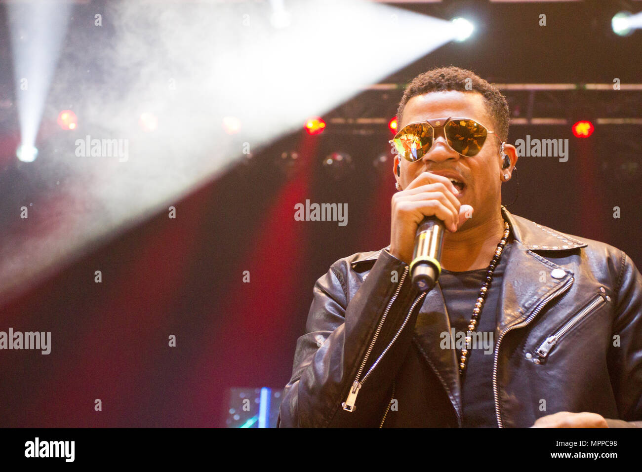 London, United Kingdom. 24 May, 2018. Gente de Zona perform in London, United Kingdom. Credit: Brayan Lopez/Alamy Live News. Stock Photo