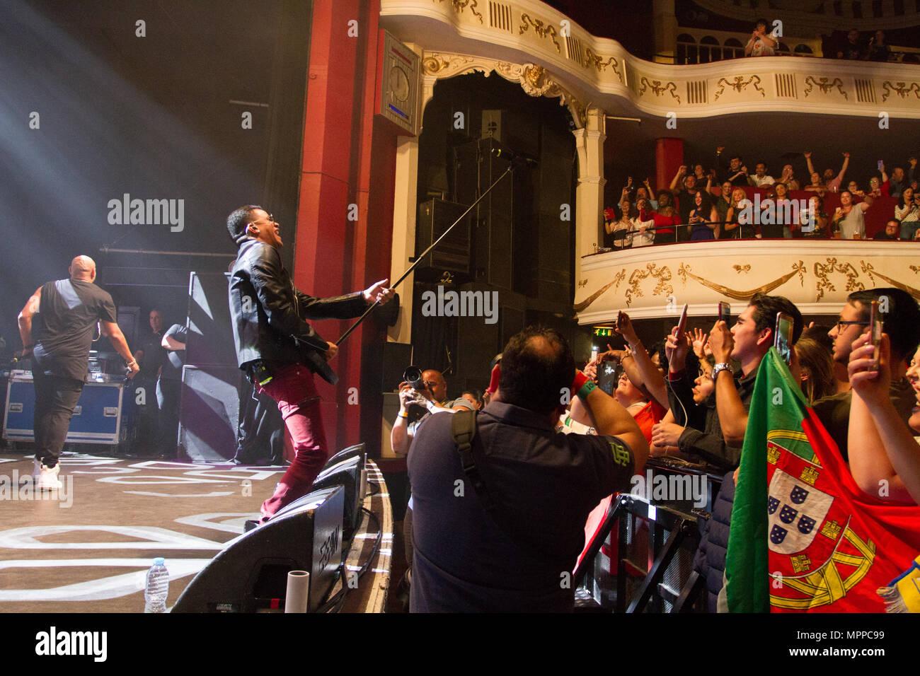 London, United Kingdom. 24 May, 2018. Gente de Zona perform in London, United Kingdom. Credit: Brayan Lopez/Alamy Live News. Stock Photo