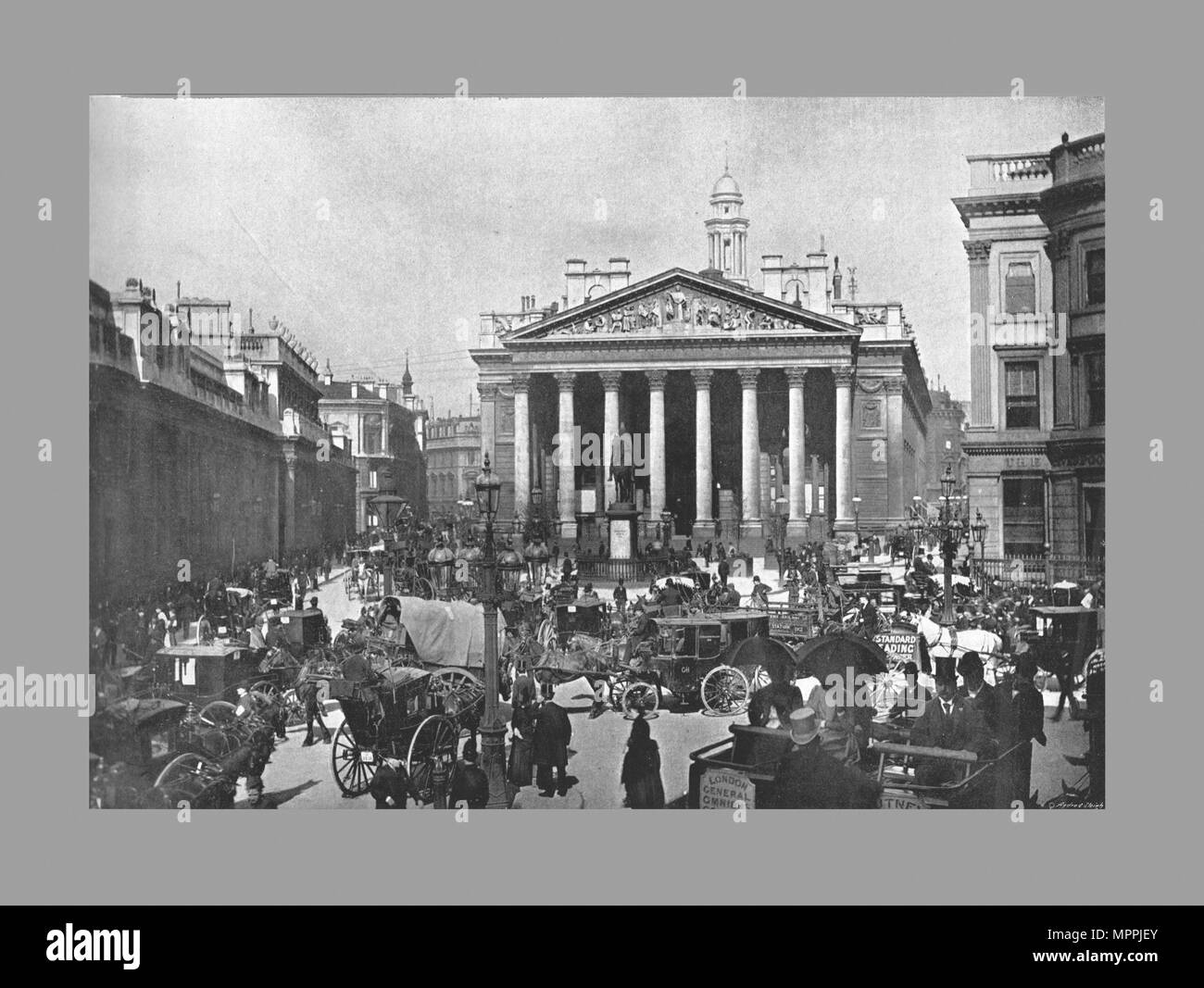 The Royal Exchange, London, c1900. Artist: Frith & Co. - Stock Image
