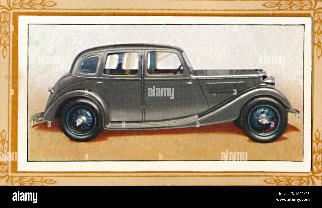 'Riley Eight-90 Adelphi Saloon', c1936. Artist: Unknown. - Stock Image
