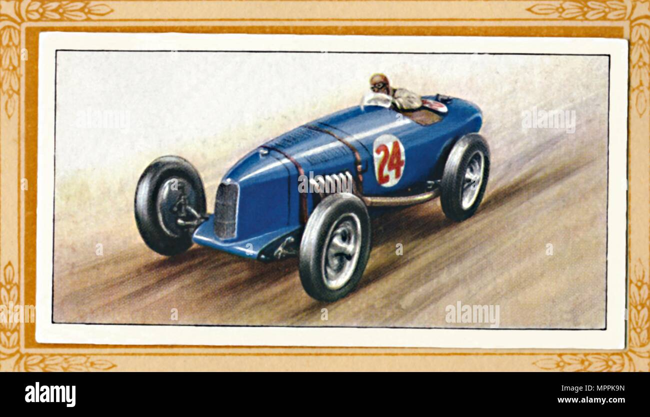 'Riley Two-Litre Racing Model', c1936. Artist: Unknown. - Stock Image