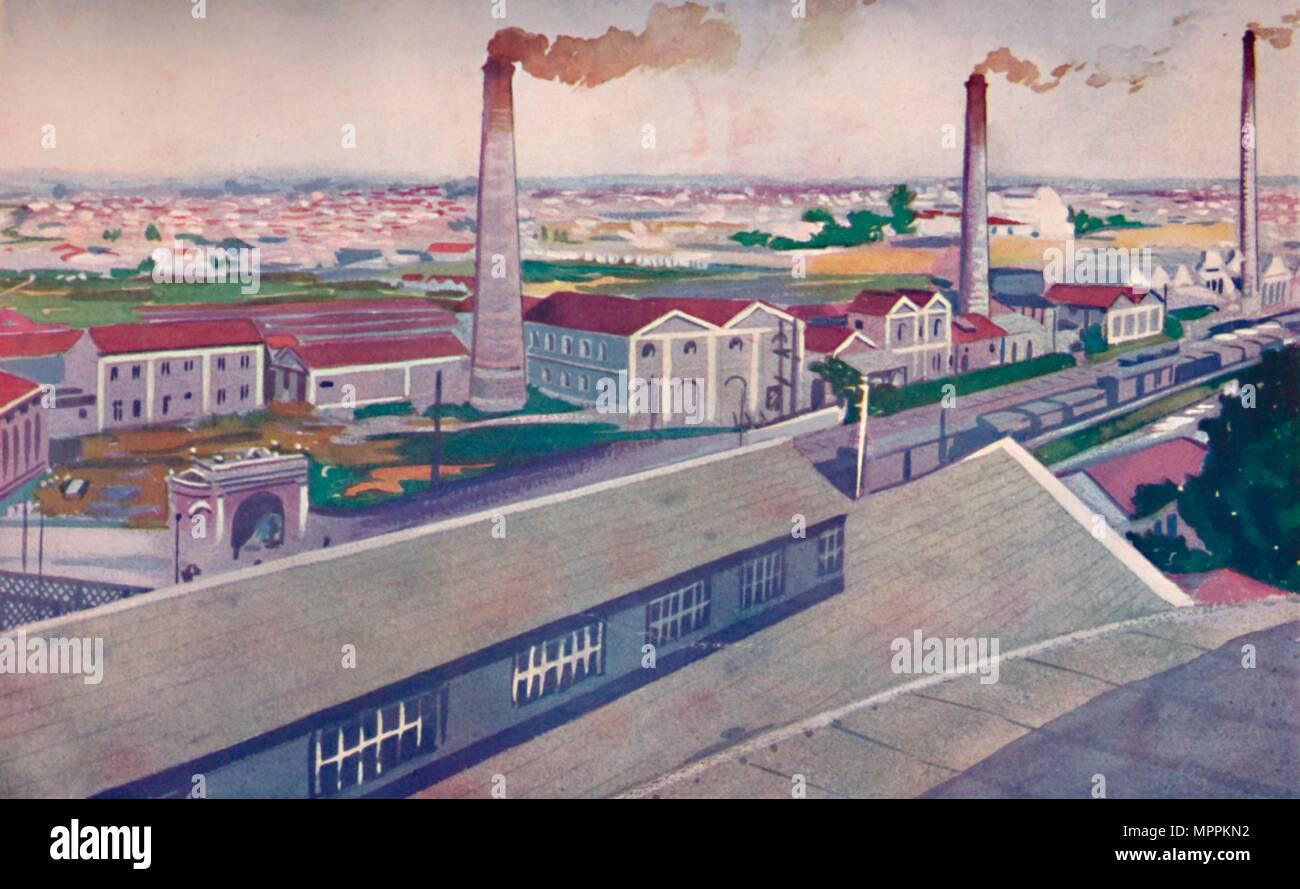 'The Jute Mills of the Cia. Nacional de Tecidos de Juta', 1914. Artist: Unknown. - Stock Image