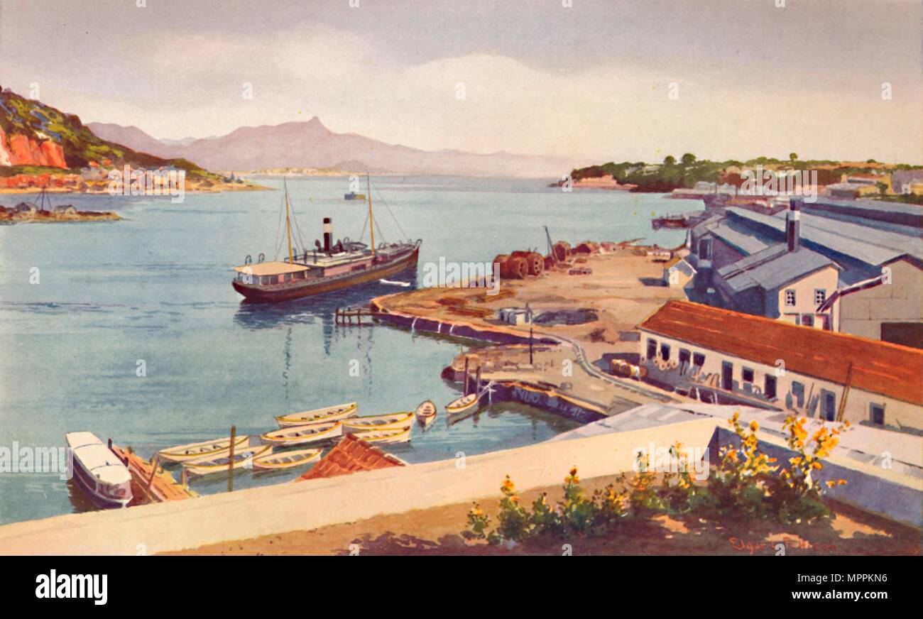 'Workshops of the Lloyd Brasileiro Steamship Company', 1914. Artist: Unknown. - Stock Image