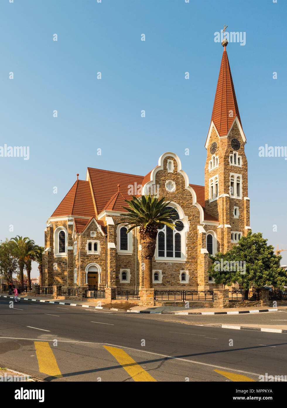 Africa, Namibia, Windhoek, Christ Church - Stock Image
