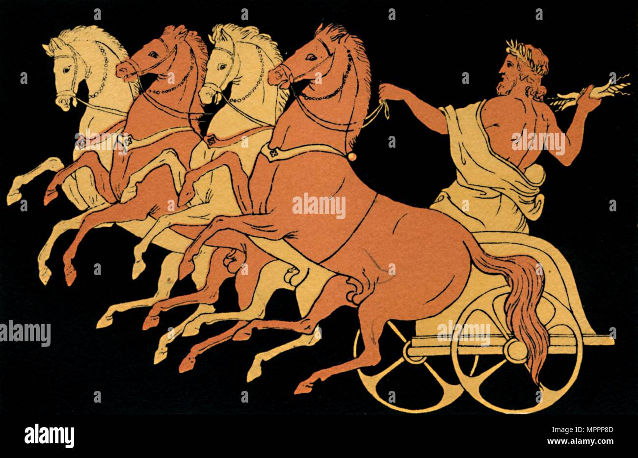 'The Chariot of Zeus', 1880. Artist: Antique. - Stock Image