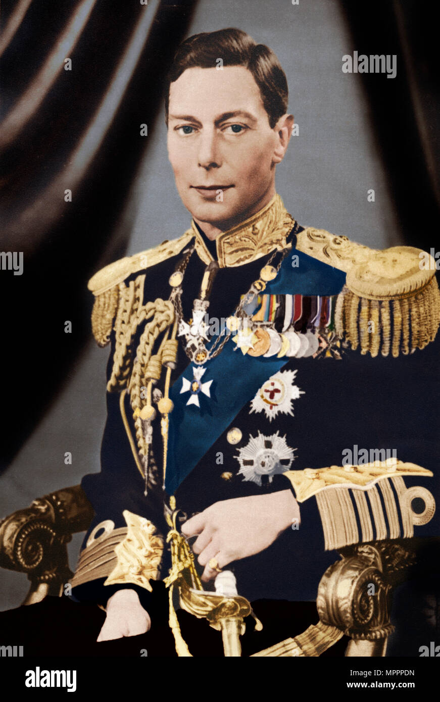 'His Majesty King George VI', c1936. Artist: Captain P North. - Stock Image