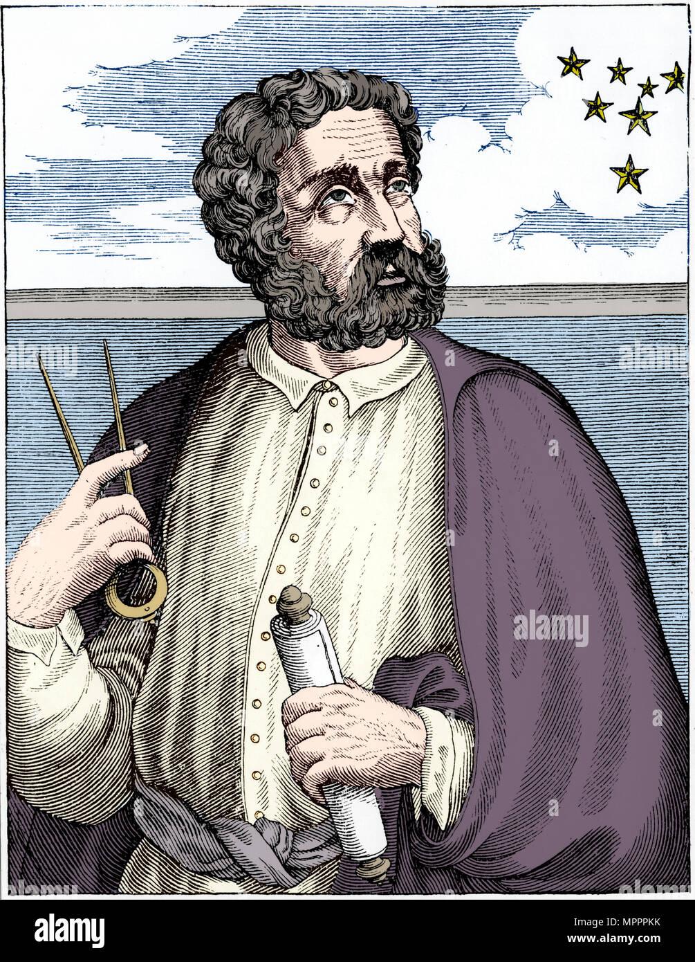 Ferdinand Magellan (c1480-c1521), Portugese navigator.  Artist: Unknown. - Stock Image