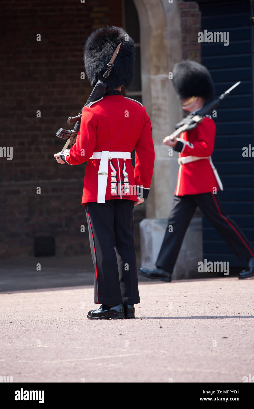 The Queen's Guard and Queen's Life Guard are the names given to