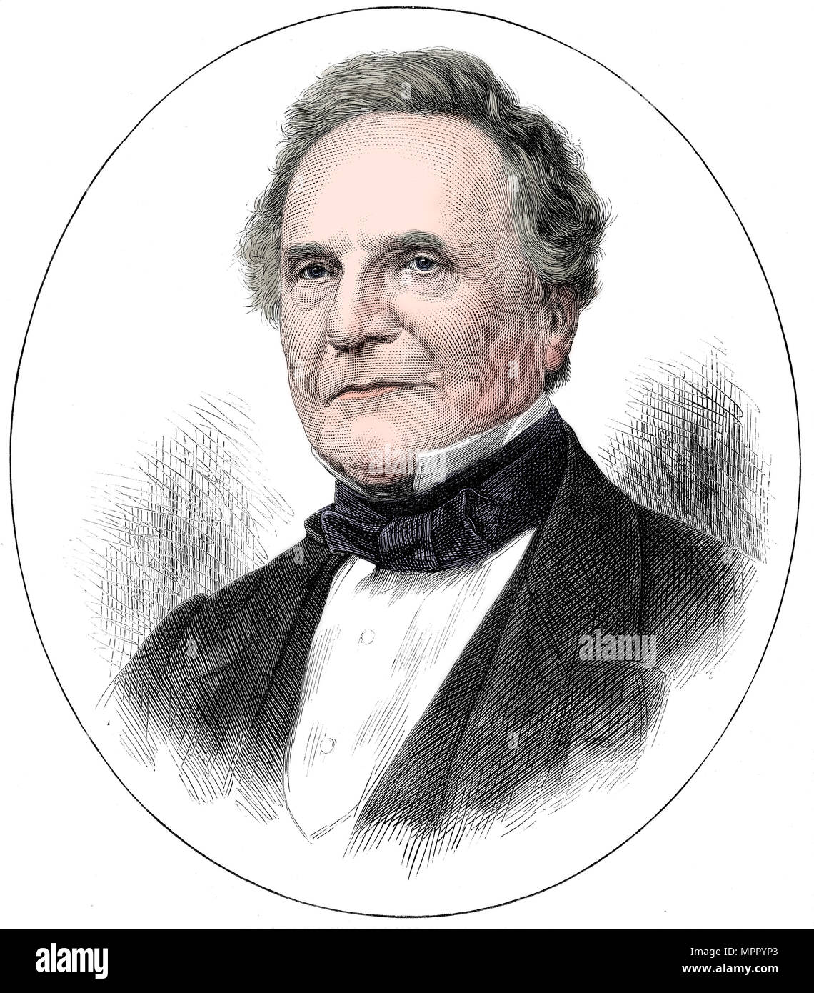 Charles Babbage (1791-1871) English mathematician and pioneer of computing, 1871. Artist: Unknown. - Stock Image