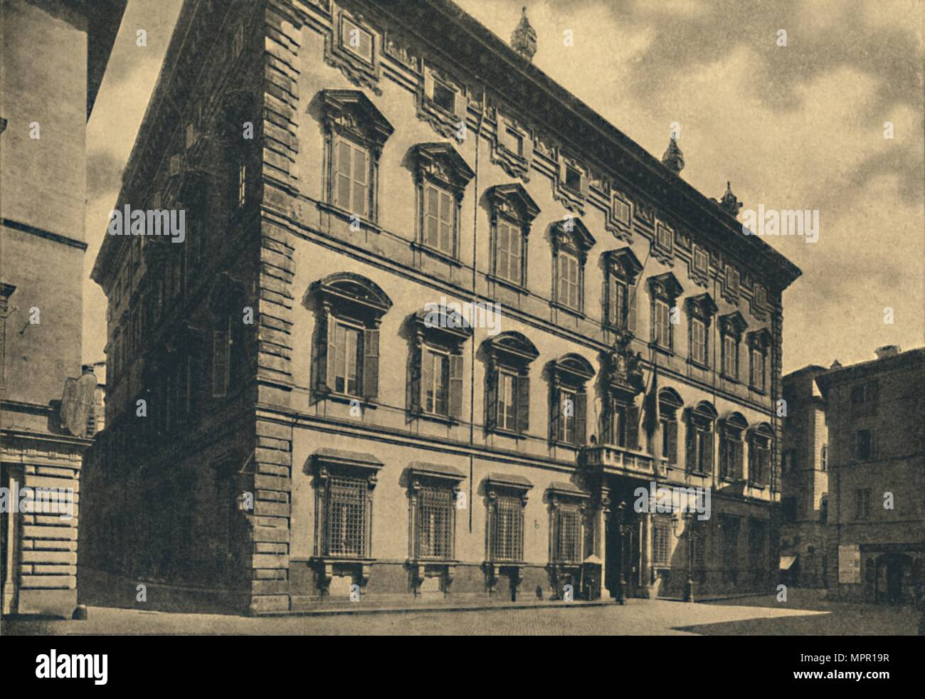 'Roma - Palace of the Senate', 1910. Artist: Unknown. - Stock Image