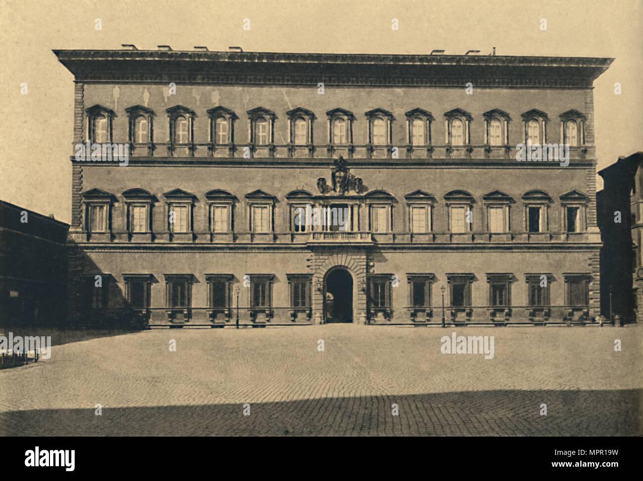'Roma - Farnese Palace', 1910. Artist: Unknown. - Stock Image