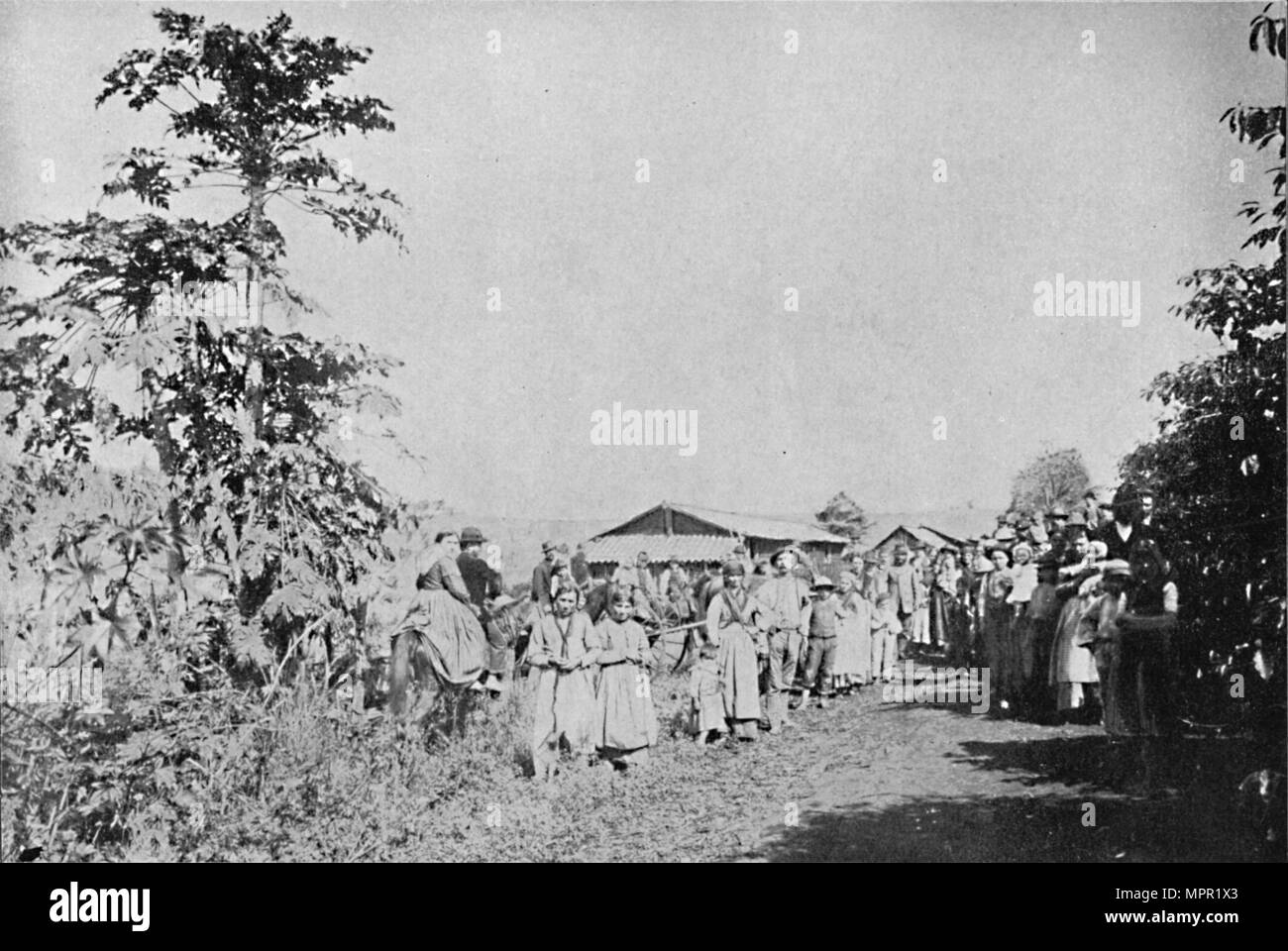 'Festa em uma Colonia', (Party in a colony), 1895. Artist: Axel Frick. - Stock Image
