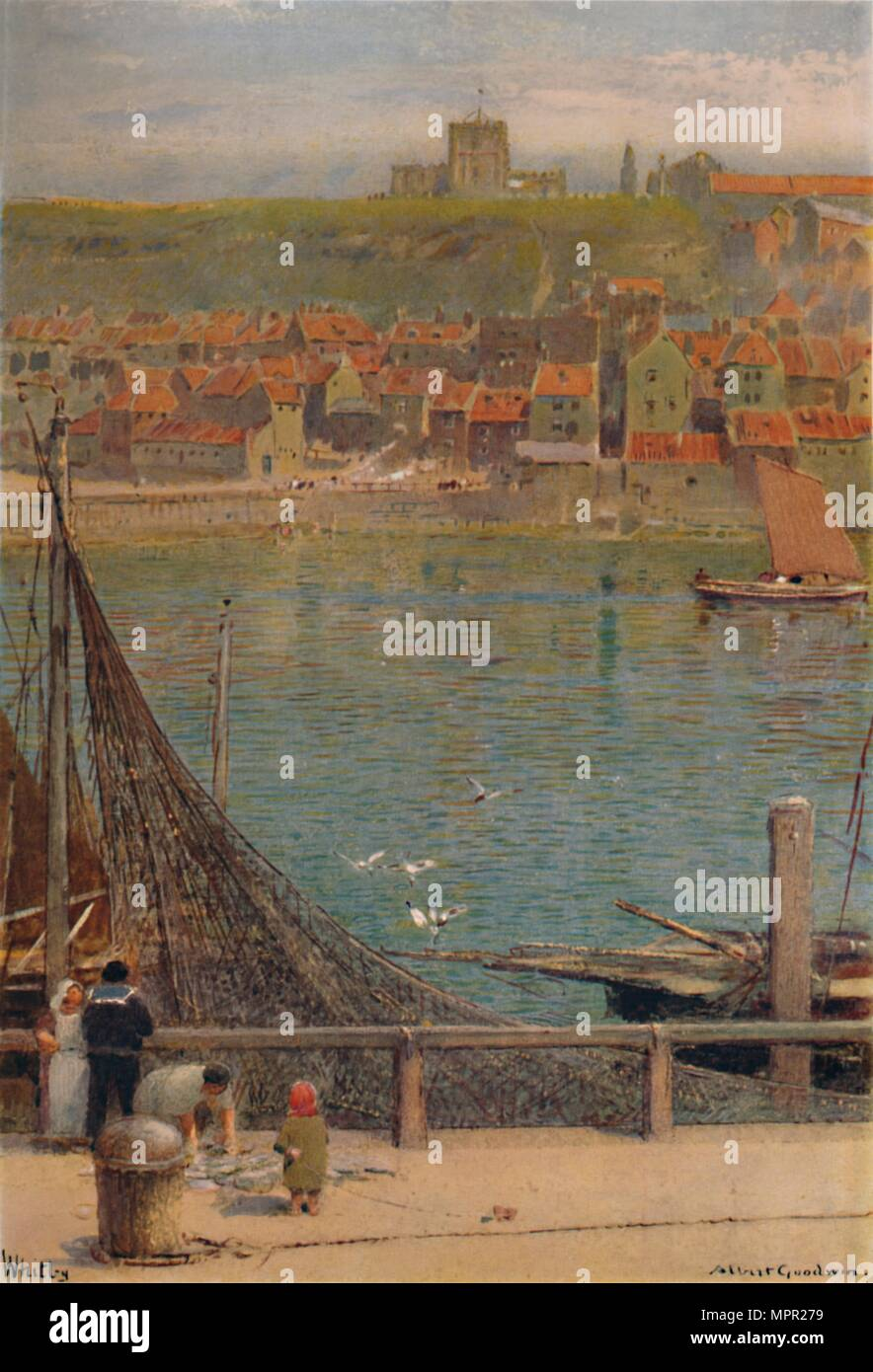 'Whitby', 19th-20th century, (1935). Artist: Albert Goodwin. - Stock Image