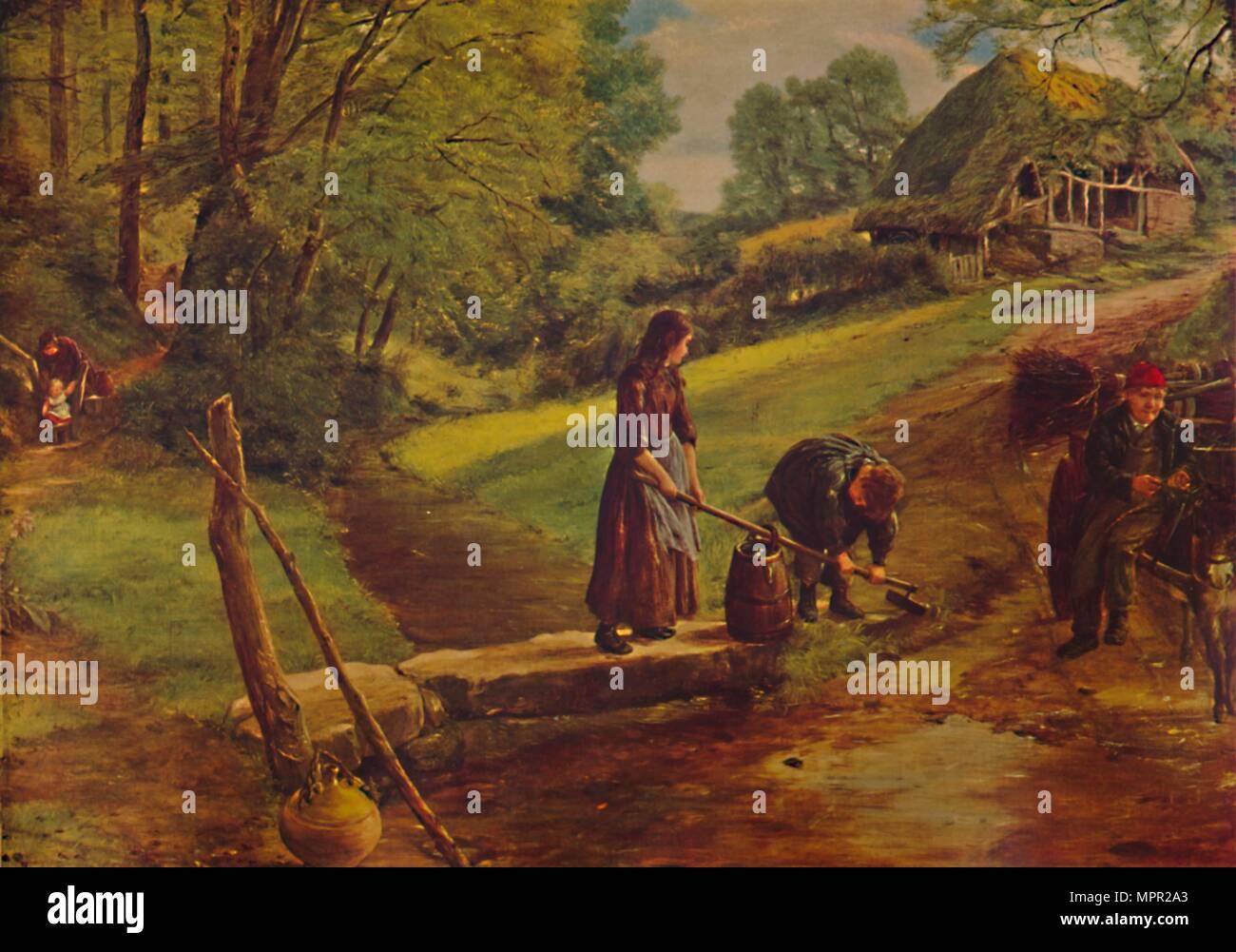 'A Devonshire Stream', 1864, (1935). Artist: James Clarke Hook. - Stock Image