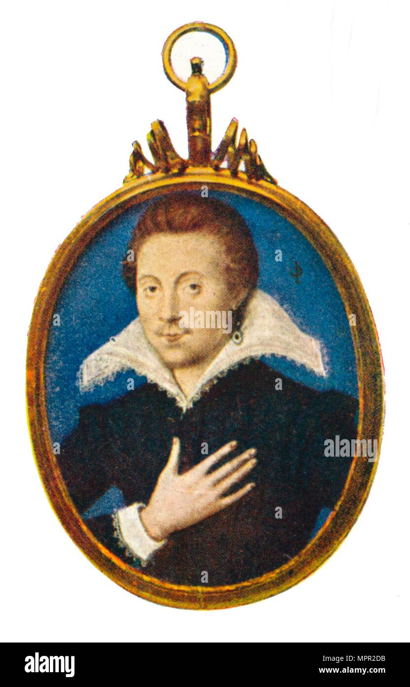 'Sir Philip Sidney', c1580-1610, (1903). Artist: Isaac Oliver I. - Stock Image