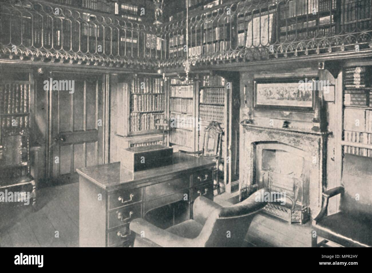 'Sir Walter Scott's Study, Abbotsford', 1904. Artist: George Washington Wilson. - Stock Image