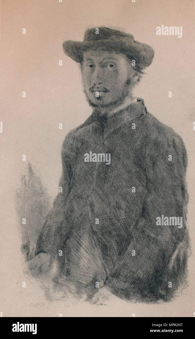 'Self-Portrait', c.1860s, (1946). Artist: Edgar Degas. - Stock Image